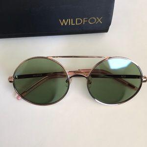 wildfox ace sunglasses rose gold